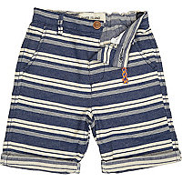Boys blue horizontal stripe shorts