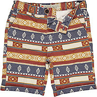 Boys red aztec shorts