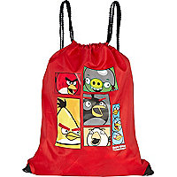 Boys red angry birds gym bag