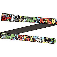Boys black Marvel comic belt