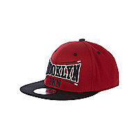 Boys red Brooklyn trucker hat