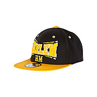 Boys black Harlem trucker hat