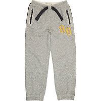 Boys grey drawstring joggers