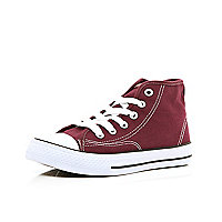 Boys dark red canvas high tops