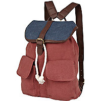 Boys red and navy rucksack