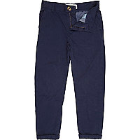 Boys blue roll up chinos