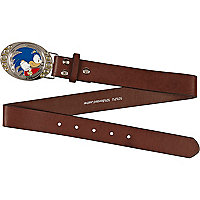 Boys brown sonic plate belt