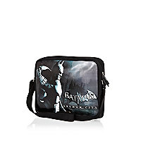 Boys black Batman messenger bag