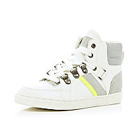 Boys white sporty high tops