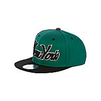 Boys green New York trucker hat
