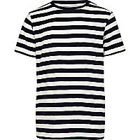 Boys navy stripe t-shirt
