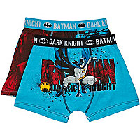 Boys blue two pack Batman boxer shorts