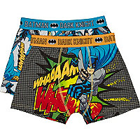 Boys orange two pack Batman boxer shorts