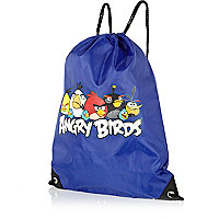 Boys blue Angry Bird gym bag