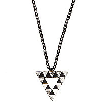 Boys black triangle necklace