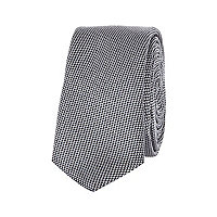 Boys grey textured tie