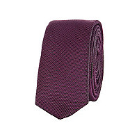 Boys purple textured tie