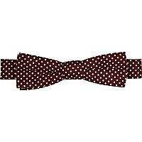 Boys purple polka dot bow tie