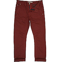 Boys red chino trousers