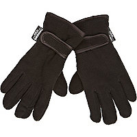 Boys black fleece gloves