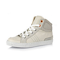 Boys white high tops