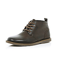 Boys brown baker boot