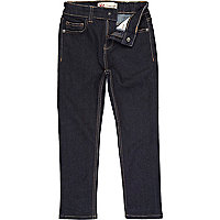 Boys blue dark denim jeans