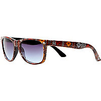 Boys blue aztec retro sunglasses
