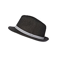 Boys grey straw hat