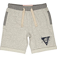 Boys ecru jogger shorts