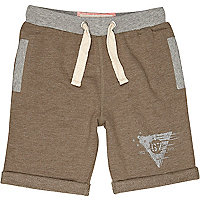 Boys khaki jogger shorts