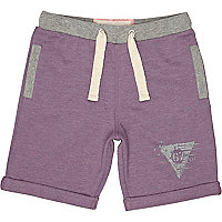 Boys purple jogger shorts