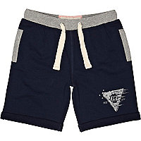 Boys navy jogger shorts