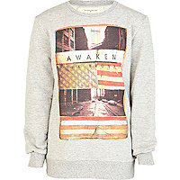 Boys grey awaken the Bronx sweatshirt