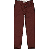 Boys dark red chinos