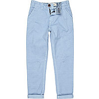 Boys light blue smart chino trousers