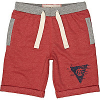 Boy red jogger shorts