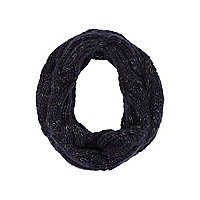 Boys navy cable knit snood
