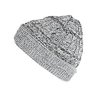 Boys grey mix beanie hat