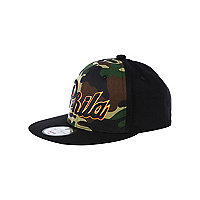 Boys black Phila camo cap