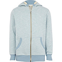 Boys blue slub hoody