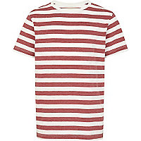 Boys red stripe crew t-shirt