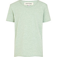 Boys light green voop neck t-shirt