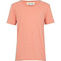 Boys orange voop neck t-shirt