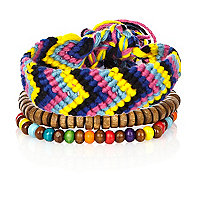 Boys blue two pack braided bracelets