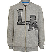 Bosy grey LA print sweat jacket