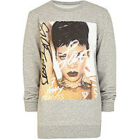 Kids grey Rhianna album print sweatshirt
