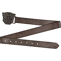 Boys brown Transformers plate belt