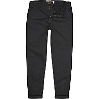 Boys black washed chinos