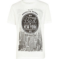 Boys white best of New York t-shirt
